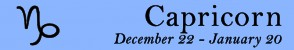 Capricorn symbol and dates